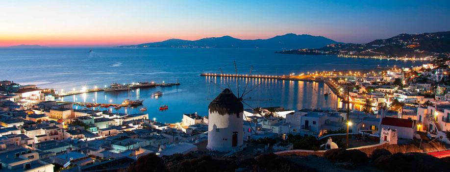 Pacote para Grécia - Destino de Mykonos Town